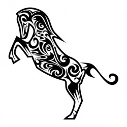 Sticker Cheval Tribal