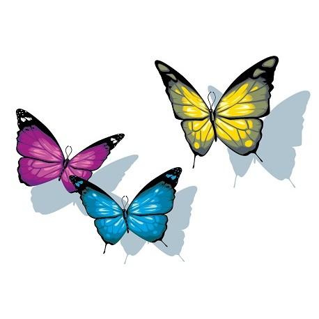 Sticker 3 Papillons