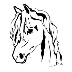 Sticker Portrait Cheval