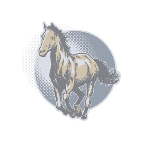 Sticker Cheval au Galop