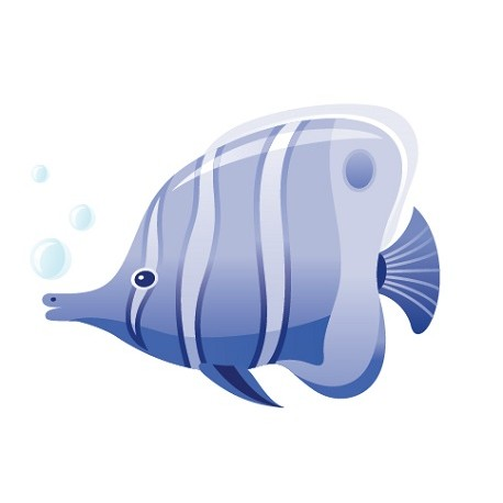 Sticker Poisson Bulles