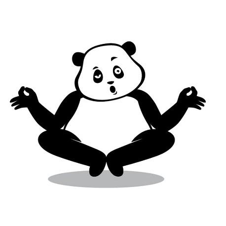 Sticker Panda Zen