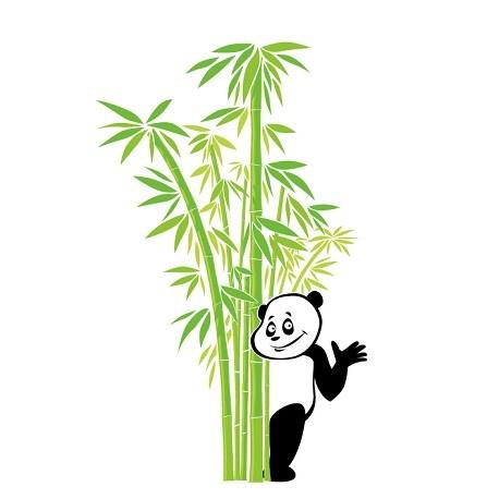 Sticker Panda Buisson