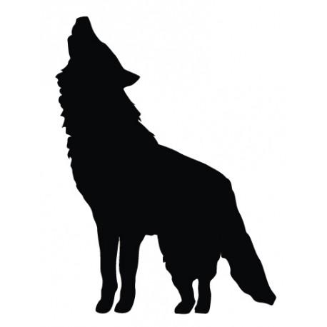 Sticker Loup chante
