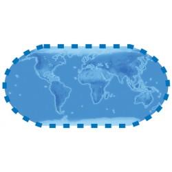 """Sticker """"Planisphère bleue"""""""