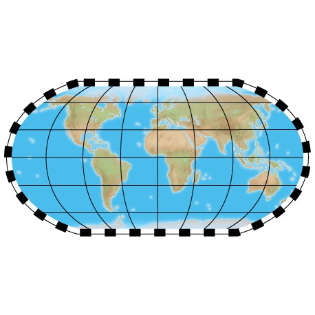"Sticker ""Planisphère 4"""