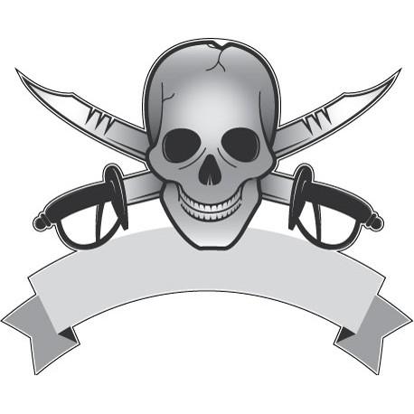 Sticker Tete de Mort 3