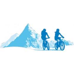 Sticker VTT Montagne