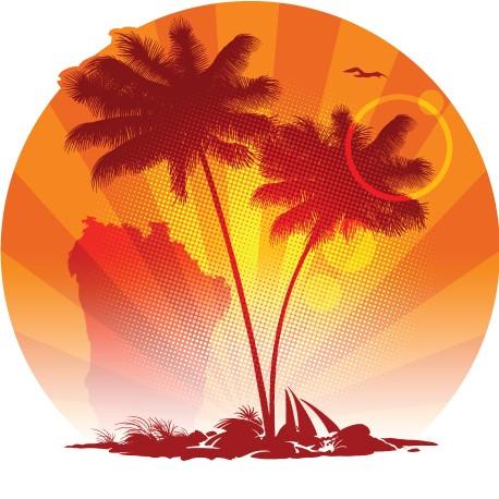 Sticker Ile Tropicale