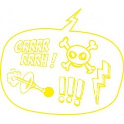 Sticker F K