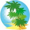 Sticker Ile Paradisiaque