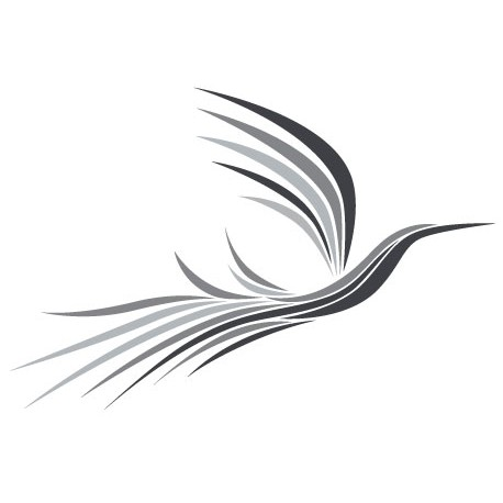 Sticker Oiseau magique Gris