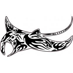 Sticker Raie Tribale