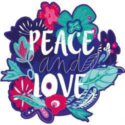 Sticker Peace and Love 2