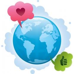 Sticker World Love