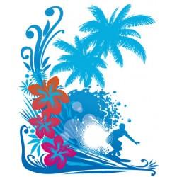Sticker Surf Beach
