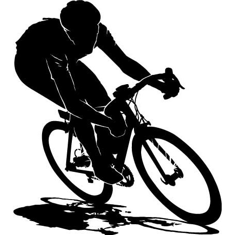 Sticker Cycliste noir