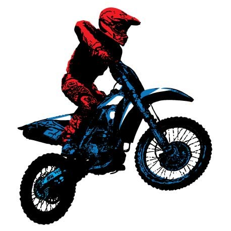 Sticker Moto Cross