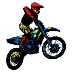 Sticker Moto cross Tricolore