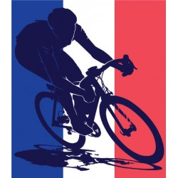 Sticker Cycliste France