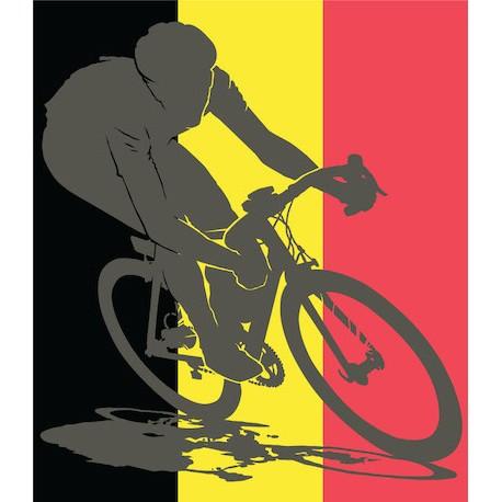 Sticker Cycliste Belge