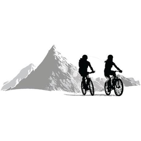 Sticker VTT Montagne Gris
