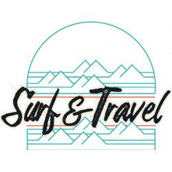 Sticker SURF AND TRAVEL