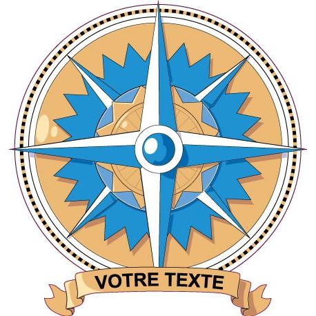Sticker Boussole 2 Personnalisable