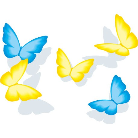 Sticker 5 Papillons