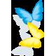 Sticker 2 Papillons